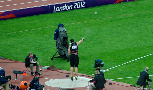 New Zealander Valerie Adams wins Silver in Shot Put. Copyright of Ngaire Ackerley, 2012.