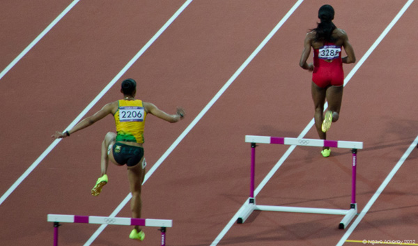 Womens Hurdles Race. Copyright of Ngaire Ackerley, 2012.