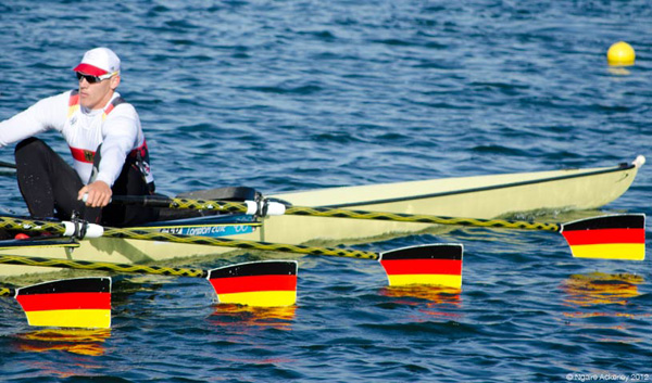 Germany's Mens Quadruple Sculls. Copyright of Ngaire Ackerley, 2012.
