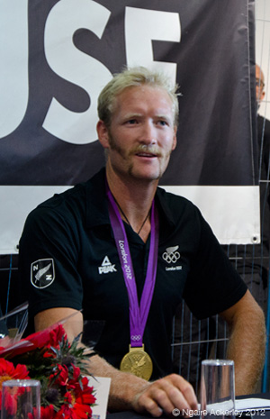 Eric Murray, New Zealand rower. Copyright of Ngaire Ackerley, 2012.