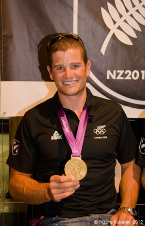 Nathan Cohen, New Zealand rower. Copyright of Ngaire Ackerley, 2012.