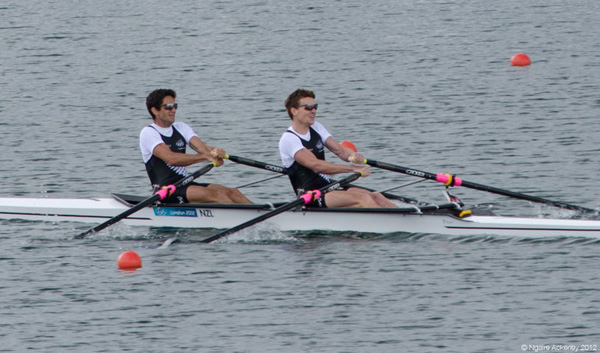New Zealand's Mens Lightweight Double Sculls. Copyright of Ngaire Ackerley, 2012.