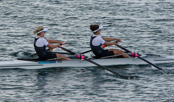 New Zealand's Womens Double Sculls. Copyright of Ngaire Ackerley, 2012.