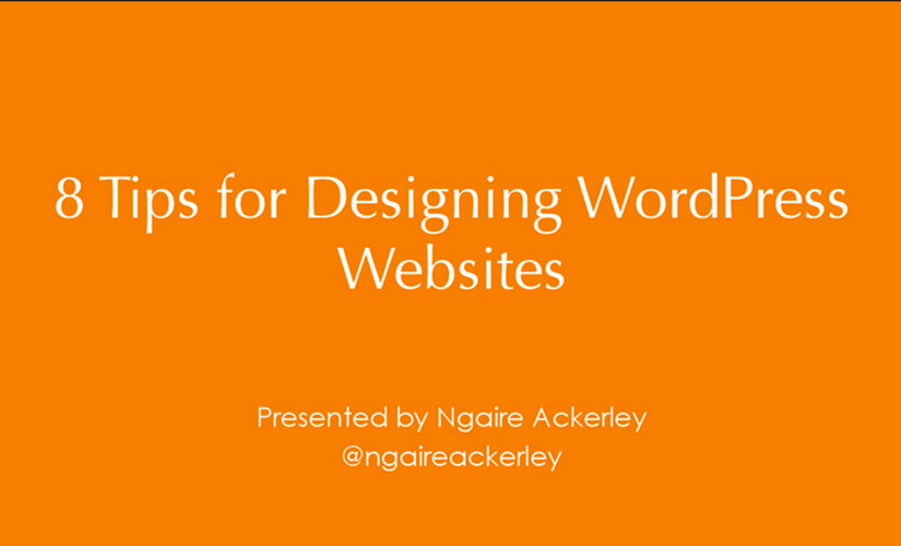 8 Tips for Designing WordPress Websites