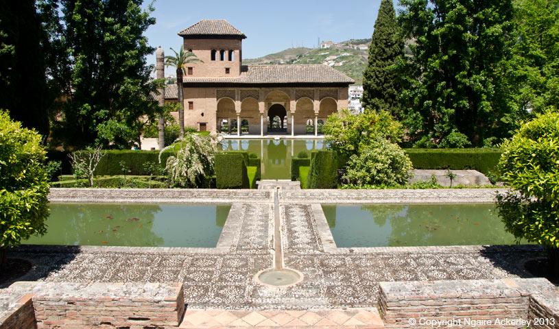 Alhambra gardens, Granda, Spain.
