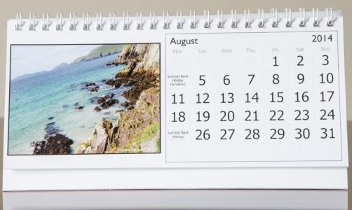 Month of August, 2014 Calendar