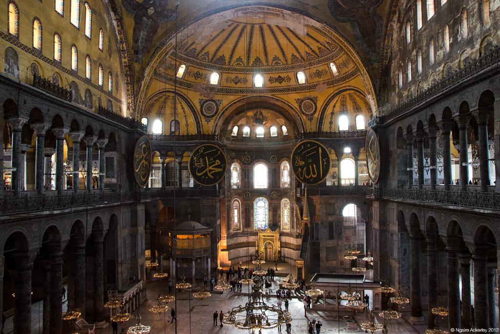 Inside Aya Sofia, Istanbul, Turkey