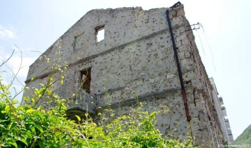Mostar building damage, Bosnia and Herzegovina