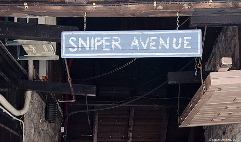 Sarajevo Sniper Avenue, Bosnia and Herzegovina.