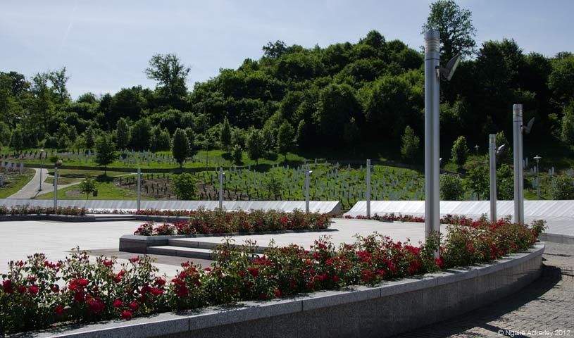 Graves at Memorial, Srebrenica