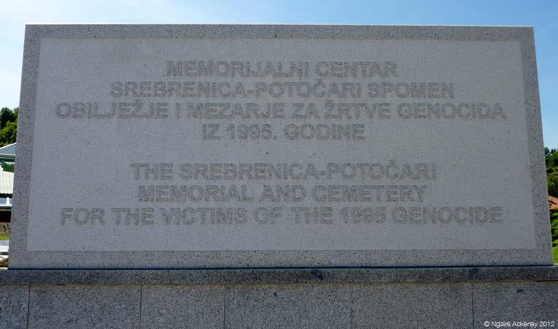 Memorial, Srebrenica.