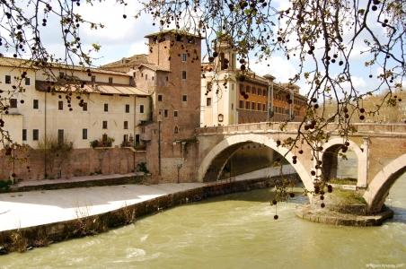 Bridge Pons Fabricius, Rome, Italy