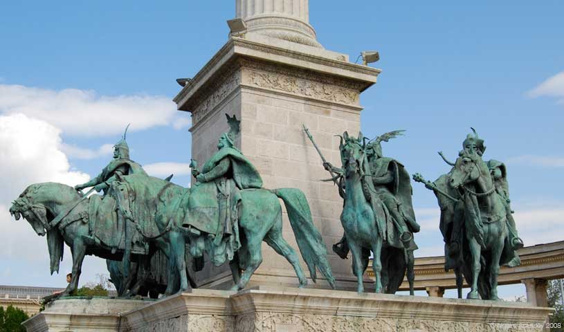 Millennium Monument, Heroes Square, Budapest, Hungary