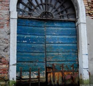 Canal gates, Venice, Italy.