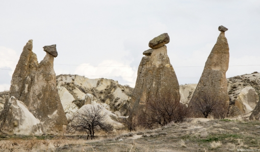 Fairy Chimney Valley, Goreme, Cappadocia, Turkey.