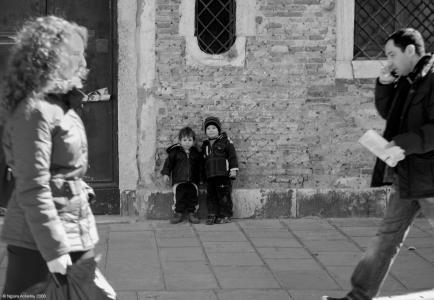 Children, Venice, Italy.