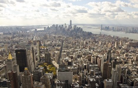 Cityscape of New York, from Empire State Building, USA