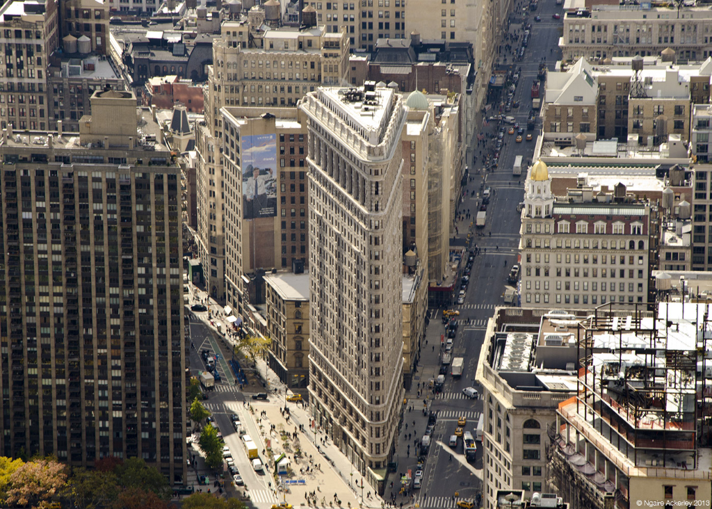 Flatiron, Cityscape of New York, from Empire State Building, USA