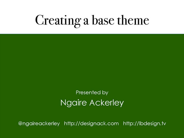 Creating a base WordPress Theme