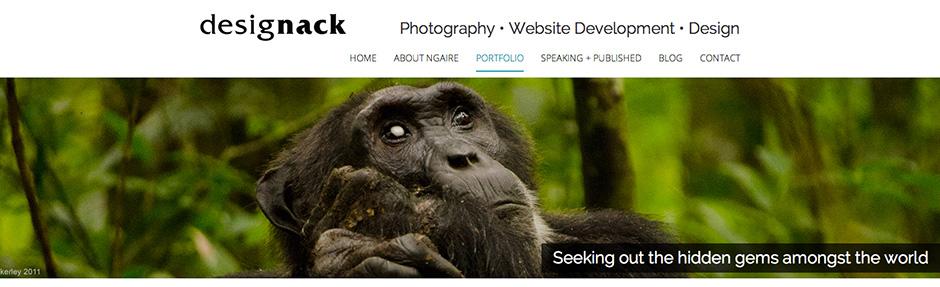 Designack website header