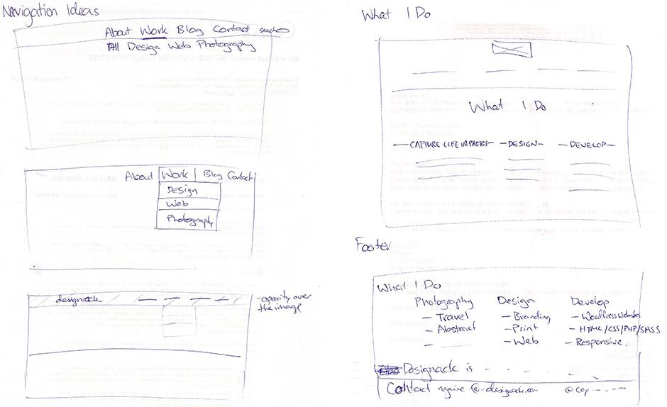 Designack.com wireframe ideas