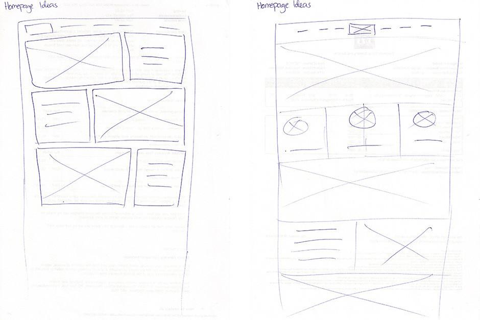 Designack.com wireframe homepage ideas