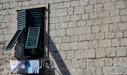 Window, Dubrovnik, Croatia.