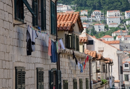 Washing hanging, Dubrovnik, Croatia.