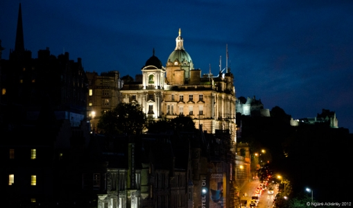 Edinburgh by night, Scotland.