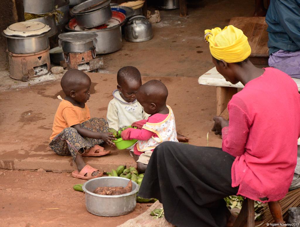 Cooking, Uganda.