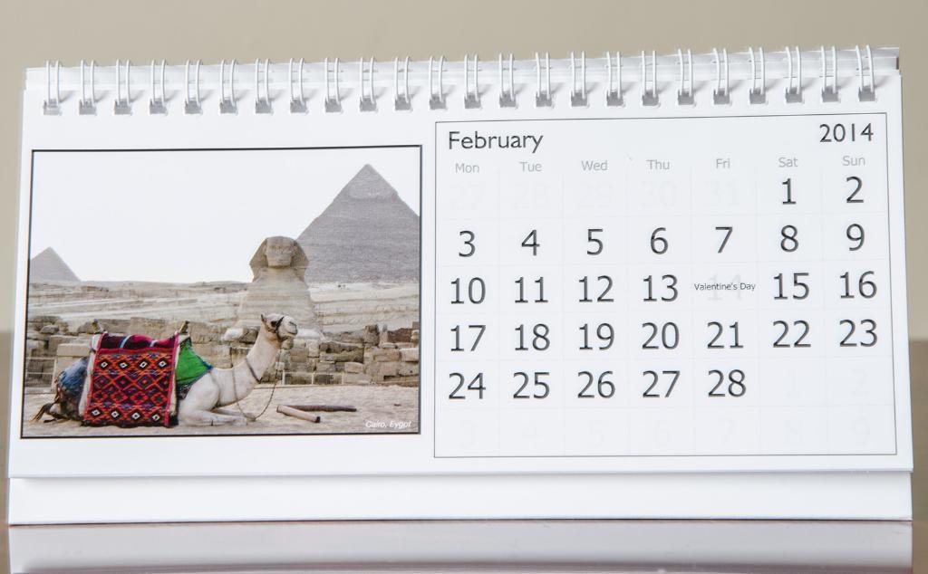 Month of February, 2014 Calendar
