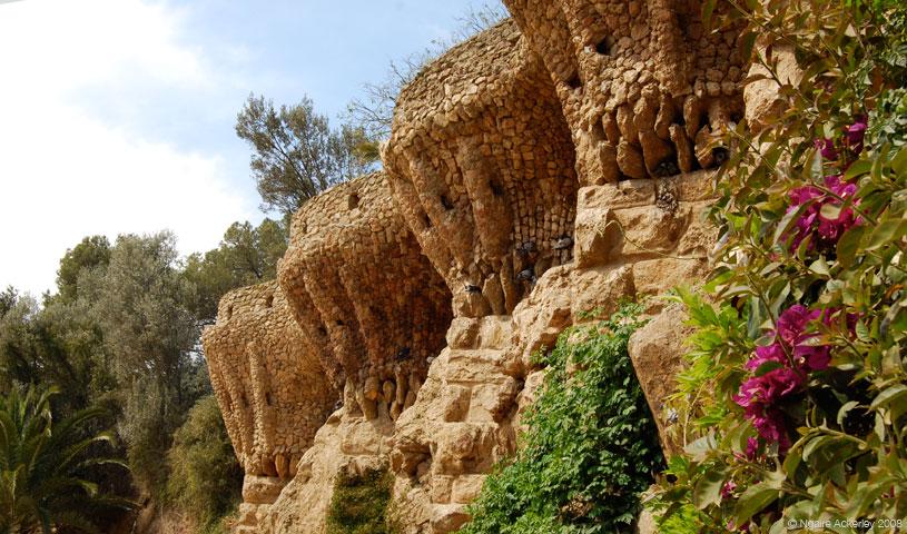 Gaud Park, Barcelona, Spain.