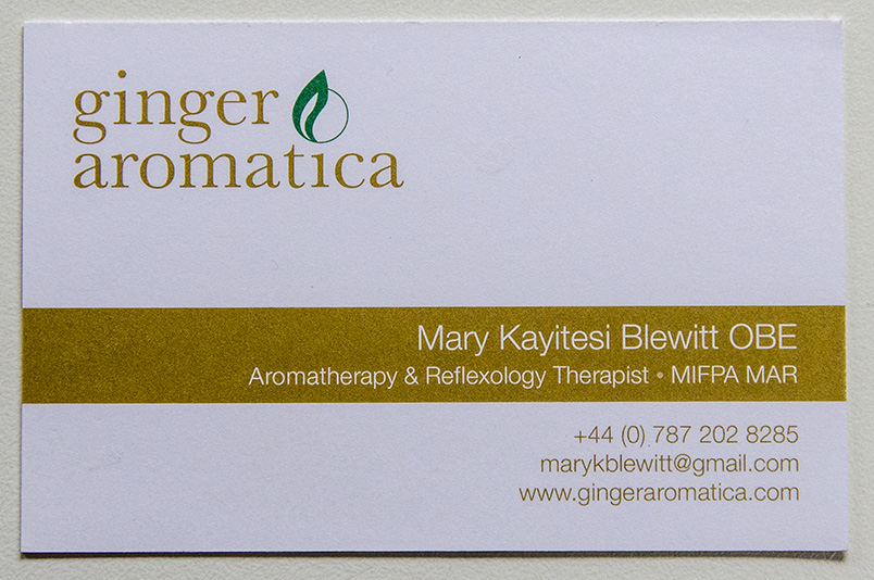 Ginger Aromatica Business Card