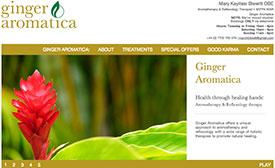 Ginger Aromatica website