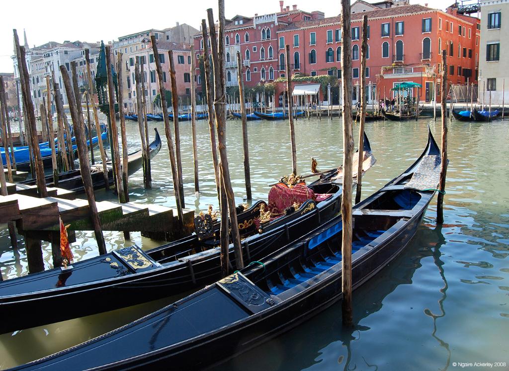 Gondola boats, Venice, Italy.
