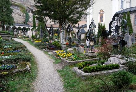 Graveyard, Salzburg, Austria.