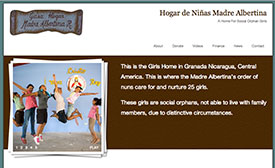 Hogar de Niñas Madre Albertina homepage