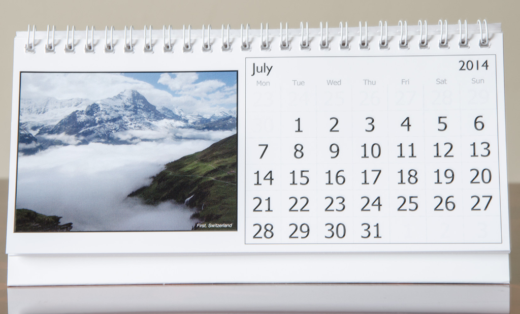 Month of July, 2014 Calendar