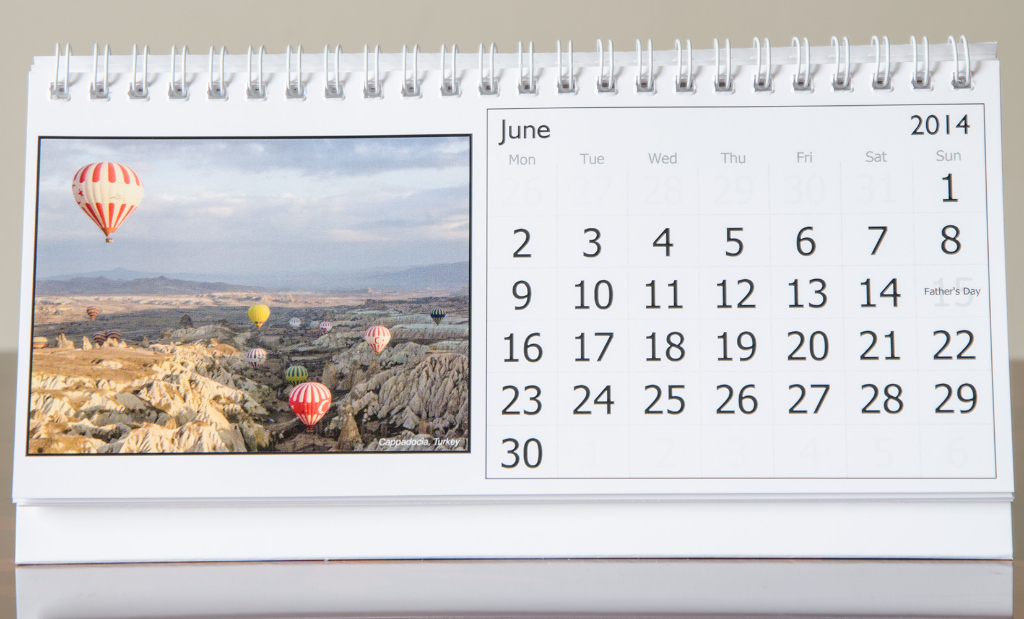 Month of June, 2014 Calendar