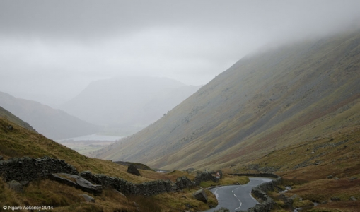 Lake District Pass, Cumbria, England.