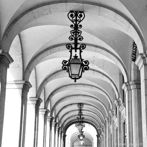 Arches, Lisbon, Portugal.