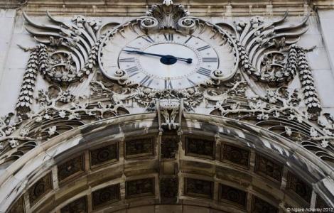 Clock, Lisbon, Portugal.