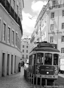 Tram, Lisbon, Portugal.