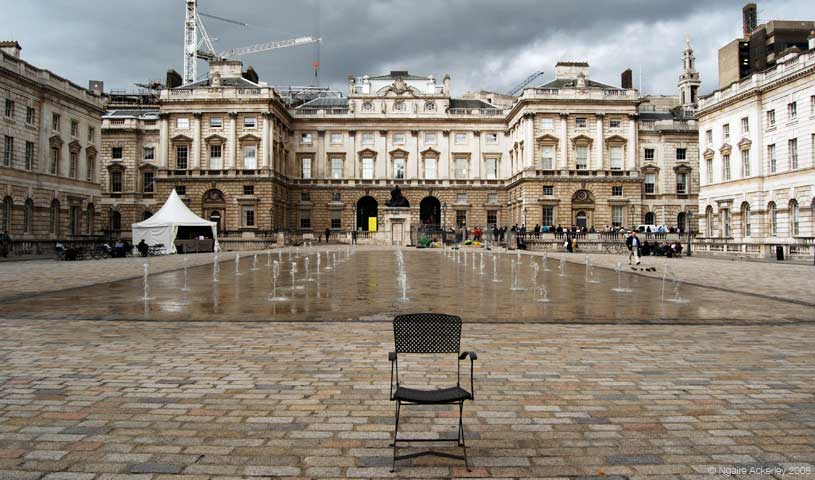 Lone chair, London, England.