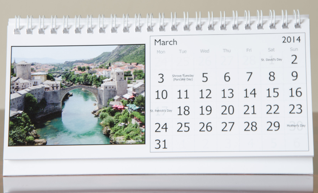 Month of March, 2014 Calendar