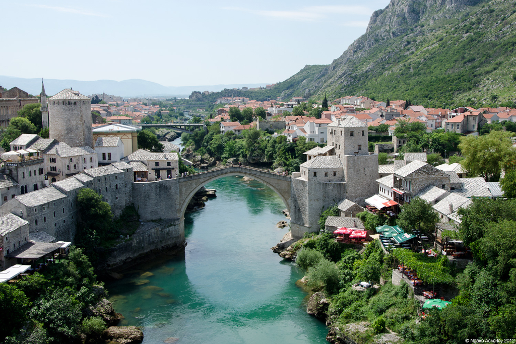 View of Mostar, Bosnia and Herzegovina.