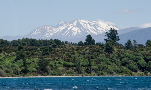 Mountains, Lake Taupo, New Zealand.