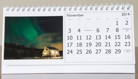 Month of November, 2014 Calendar