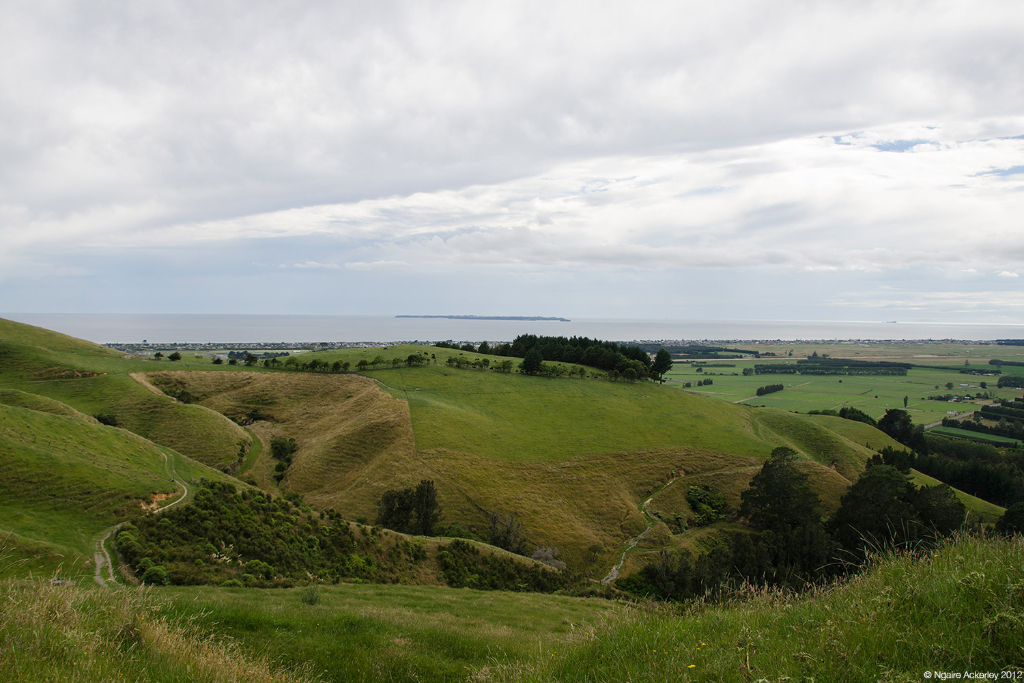 View from Papamoa Hills, New Zealand.