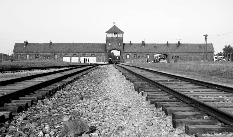 The well-known building from Auschwitz-Birkenau that many will recognise from various movies and books they have seen or read.
